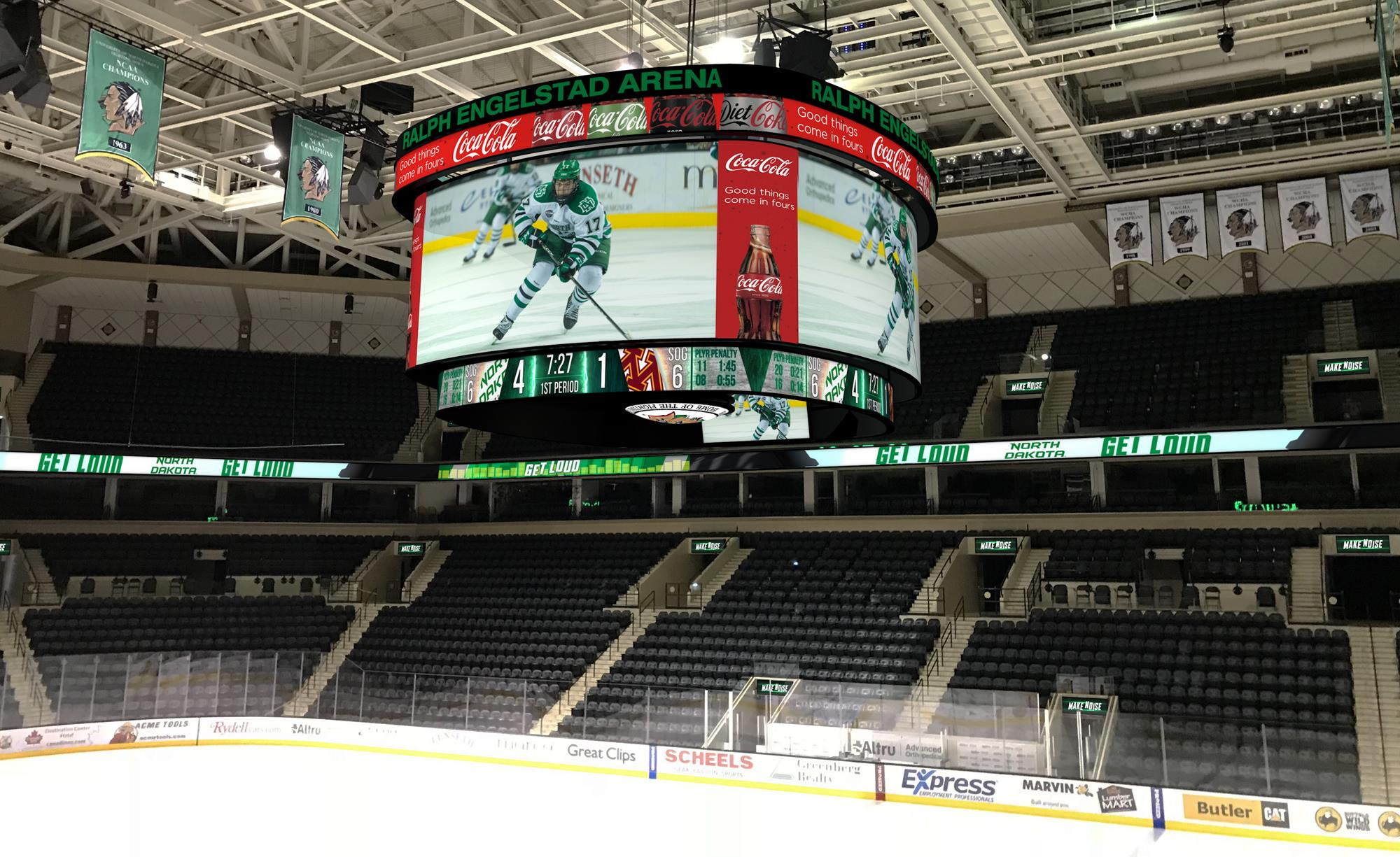 Ralph Engelstad Arena To Install Largest Center Hung Video Board In