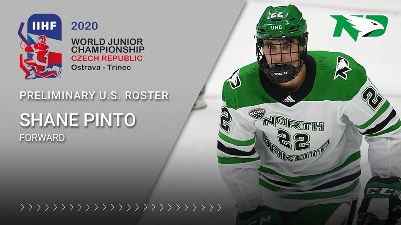 Pinto named to preliminary U.S. World Juniors roster