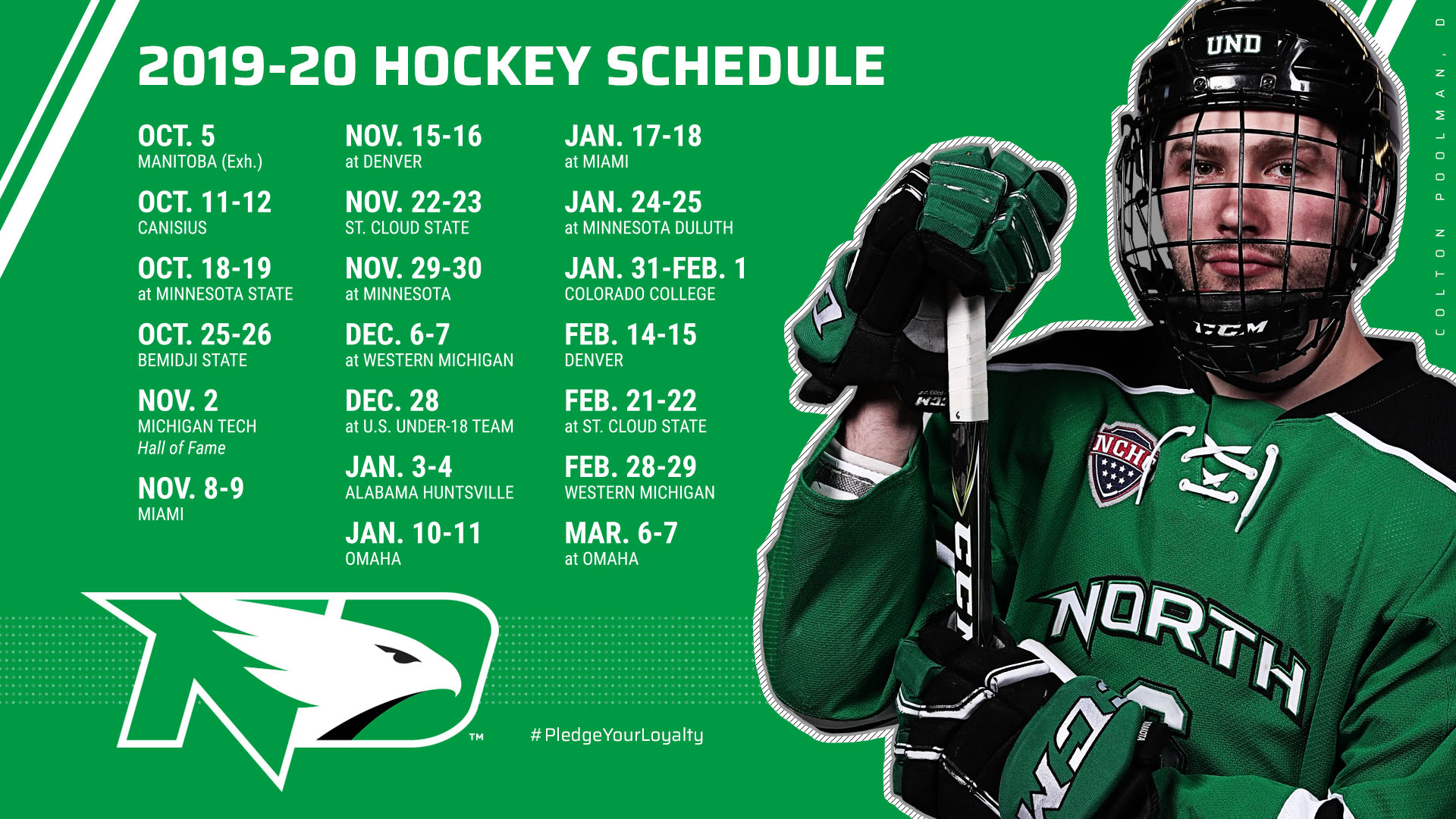 Full 2019 20 Hockey Schedule Unveiled University Of North