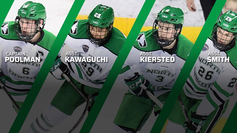 Captain group named for 2019-20 season - University of North Dakota Athletics